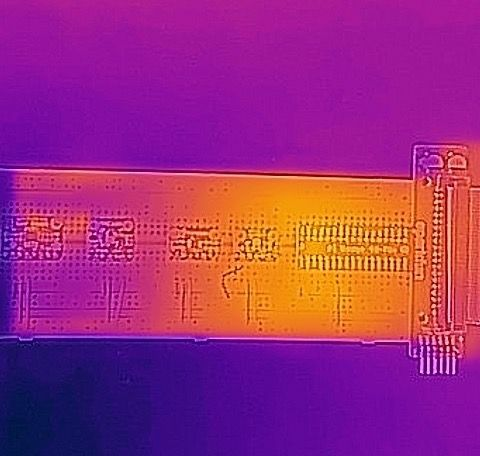 Thermal image: breadboard staying alone