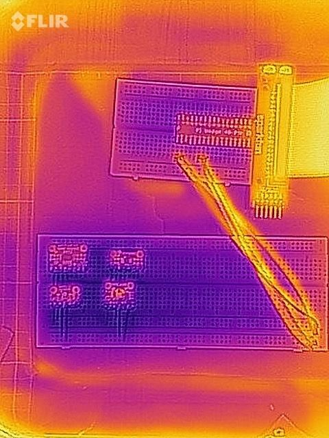 Thermal image: just after staying in the fridge